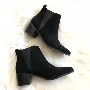 Shoes - Genuine Suede Black Chelsea Ankle Boots 7